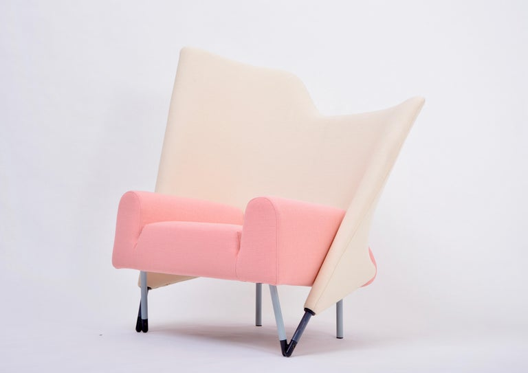 Post-Modern Reupholstered Torso Lounge Chair Designed by Paolo Deganello For Sale