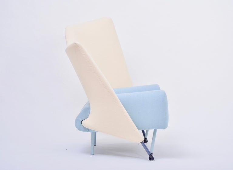 Italian Reupholstered Torso Lounge Chair Designed by Paolo Deganello for Cassina, 1980s For Sale