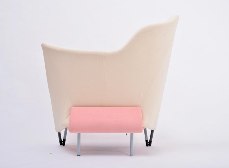20th Century Reupholstered Torso Lounge Chair Designed by Paolo Deganello For Sale