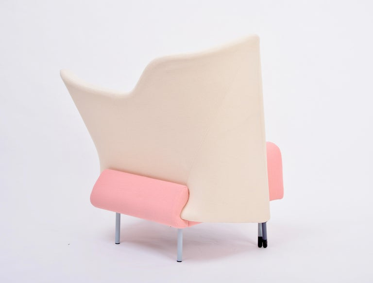 Aluminum Reupholstered Torso Lounge Chair Designed by Paolo Deganello For Sale