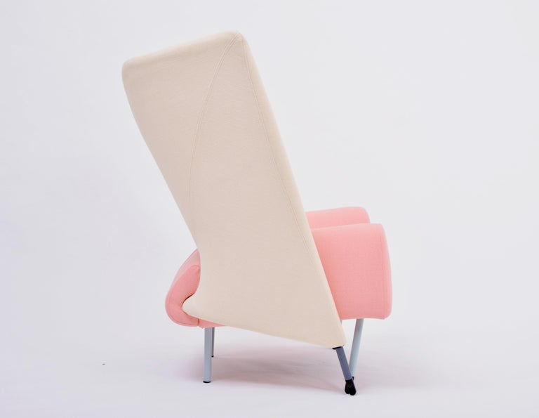 Reupholstered Torso Lounge Chair Designed by Paolo Deganello For Sale 1