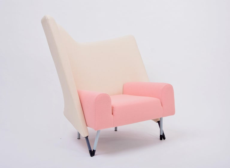 Reupholstered Torso Lounge Chair Designed by Paolo Deganello For Sale 2