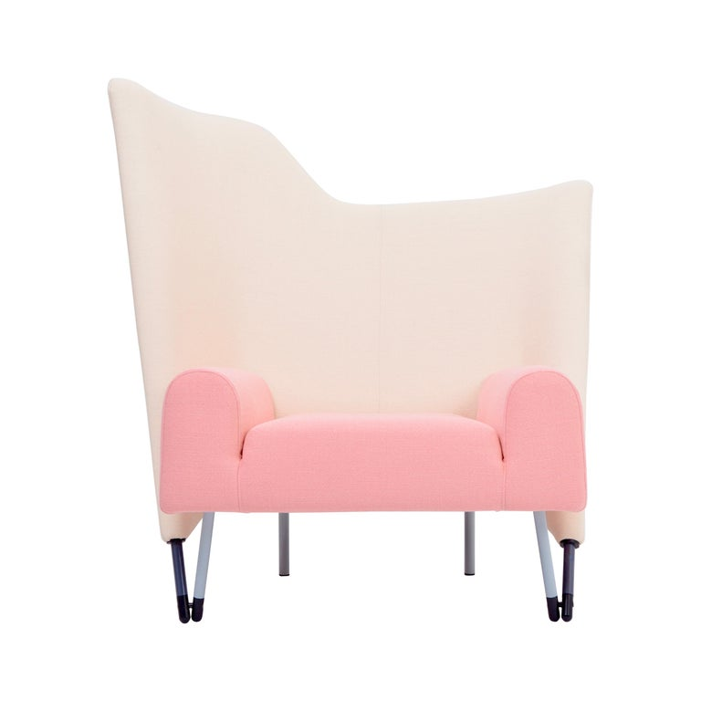 Reupholstered Torso Lounge Chair Designed by Paolo Deganello For Sale