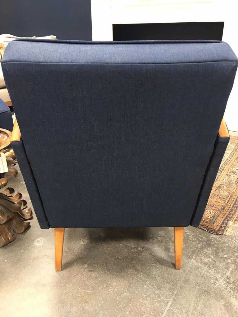 Mid-20th Century Reupholstered Vintage European Deco Armchairs For Sale