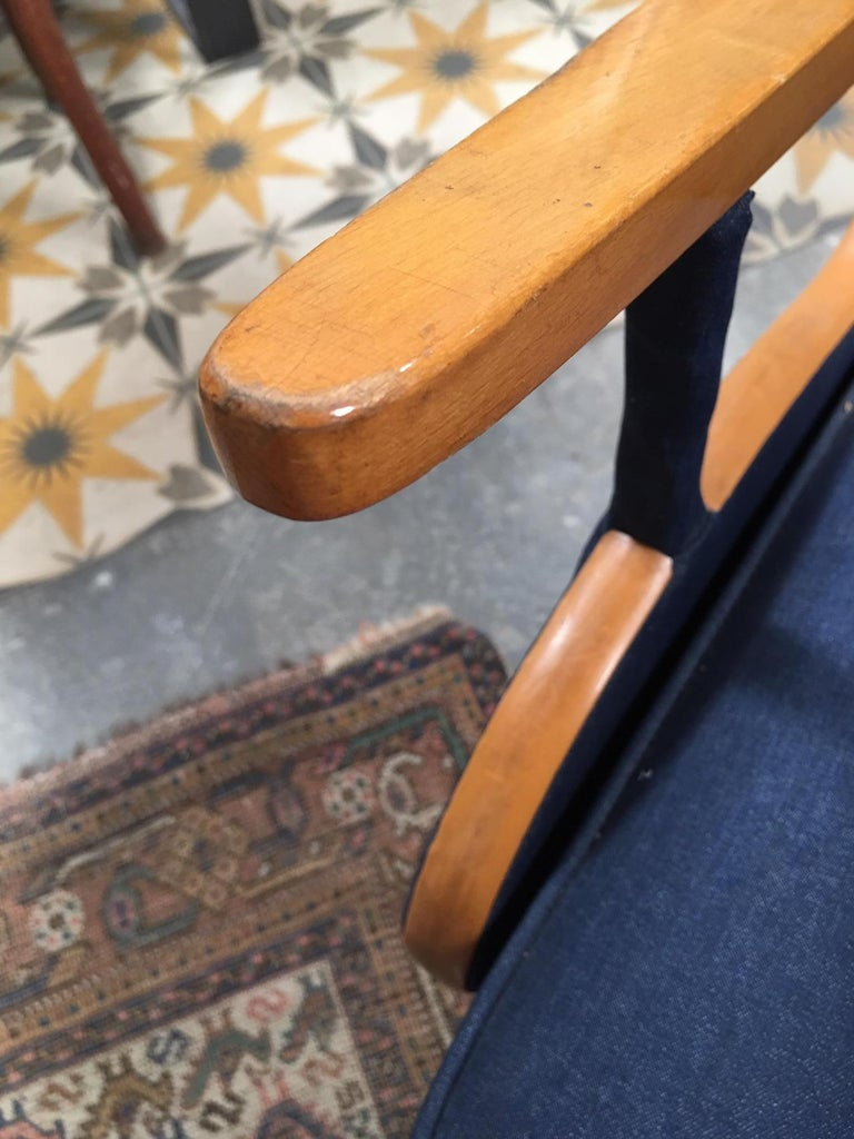 Reupholstered Vintage European Deco Armchairs For Sale 3