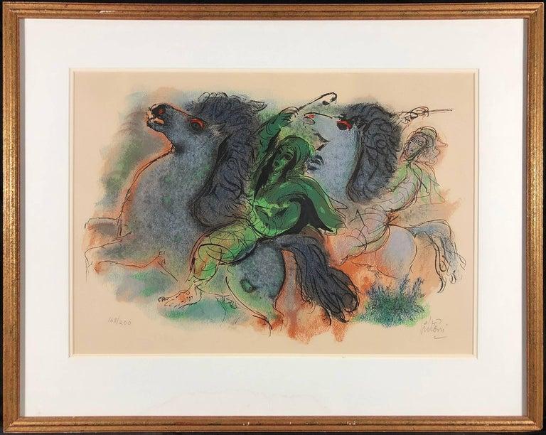 Horsemen in the Negev - Print by Reuven Rubin