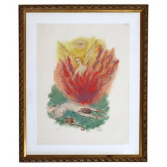 Reuven Rubin Visions of the Bible 'Angel' Modern Lithograph Framed