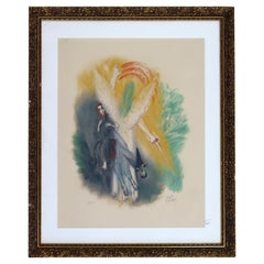 Reuven Rubin Visions of the Bible 'Sword' Modern Lithograph Framed