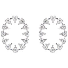 Reve Oval Diamond Earrings, Large