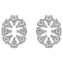 Reve Oval Diamond Earrings, Small