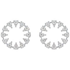 Reve Round Diamond Earrings, Large