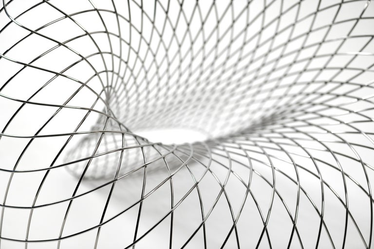 Reverb Wire Chair, Sculptural Stainless Steel Wireframe Chair by Brodie Neill 2