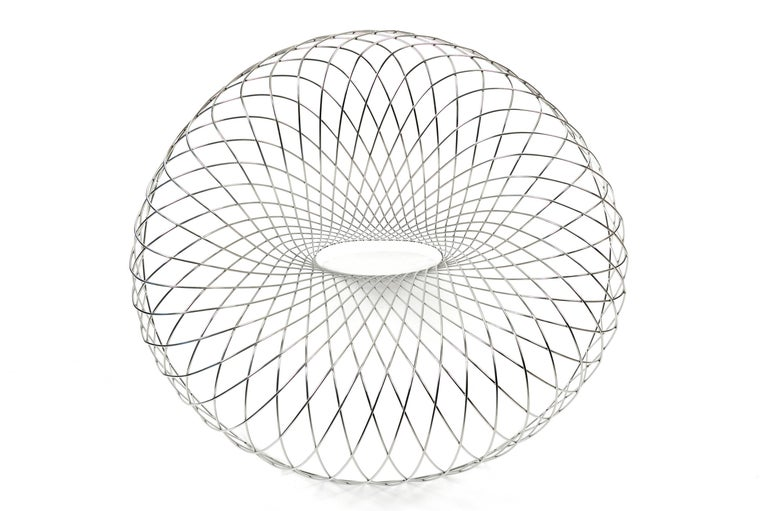 Reverb Wire Chair, Sculptural Stainless Steel Wireframe Chair by Brodie Neill 3