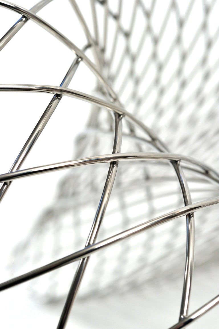 Reverb Wire Chair, Sculptural Stainless Steel Wireframe Chair by Brodie Neill 4