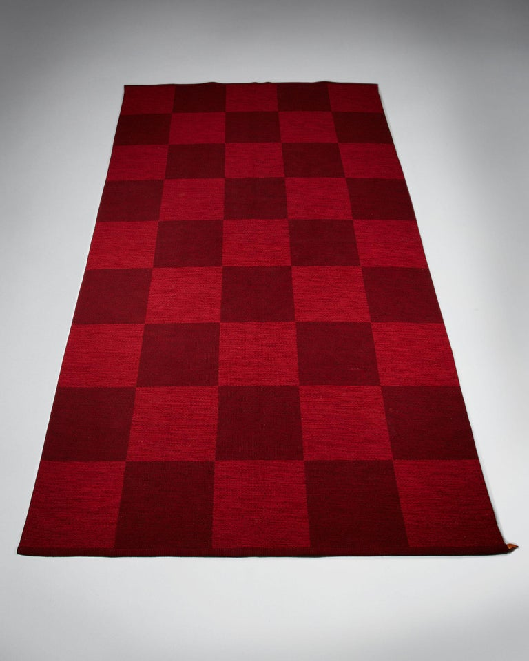 Reversable rug for Kasthall, Sweden, 1960s. Pure wool.