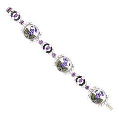 Reverse Crystal Flower Bracelet by Raymond Yard