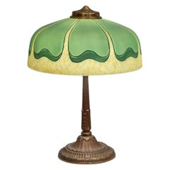 Reverse/Obverse Painted Lamp, Signed Pittsburg, circa 1920