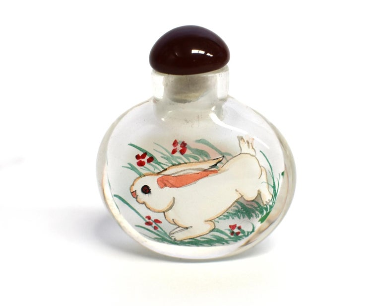 Reverse Painted Snuff Bottles Set of Four Zodiac Animals For Sale 2