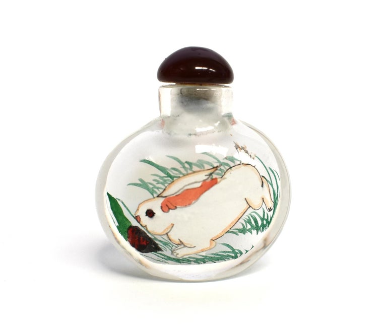 Reverse Painted Snuff Bottles Set of Four Zodiac Animals For Sale 3