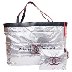 """Reversible Beach bag """"Airlines» CHANEL and extra large towel"""