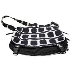 Reversible canvas shoulder Chanel bag