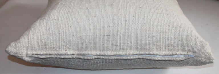 Hand-Crafted Reversible Home Spun Linen Pillows, 4 Pillows For Sale