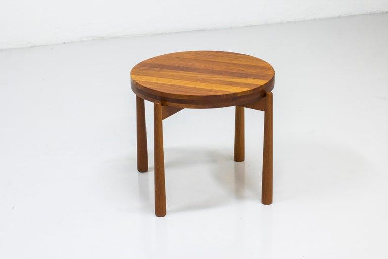 Scandinavian Modern Reversible Side Table by Jens H. Quistgaard for Nissen, Denmark, 1960s For Sale