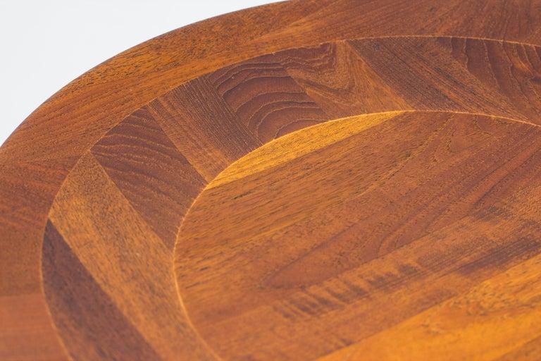 Teak Reversible Side Table by Jens H. Quistgaard for Nissen, Denmark, 1960s For Sale
