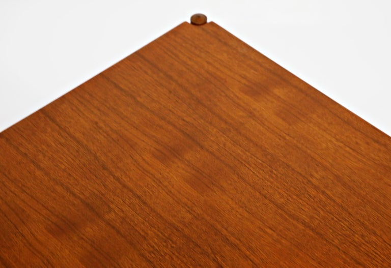 Reversible Teak & Formica Coffee Tables by Ole Wanscher for Poul Jeppesen For Sale 9