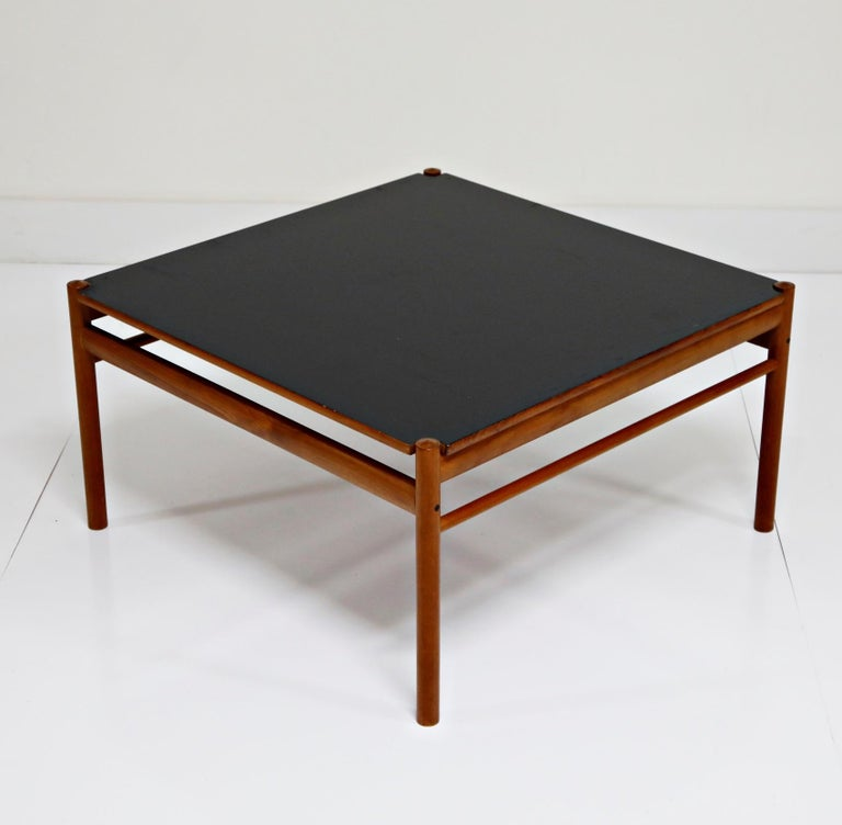 Danish Reversible Teak & Formica Coffee Tables by Ole Wanscher for Poul Jeppesen For Sale