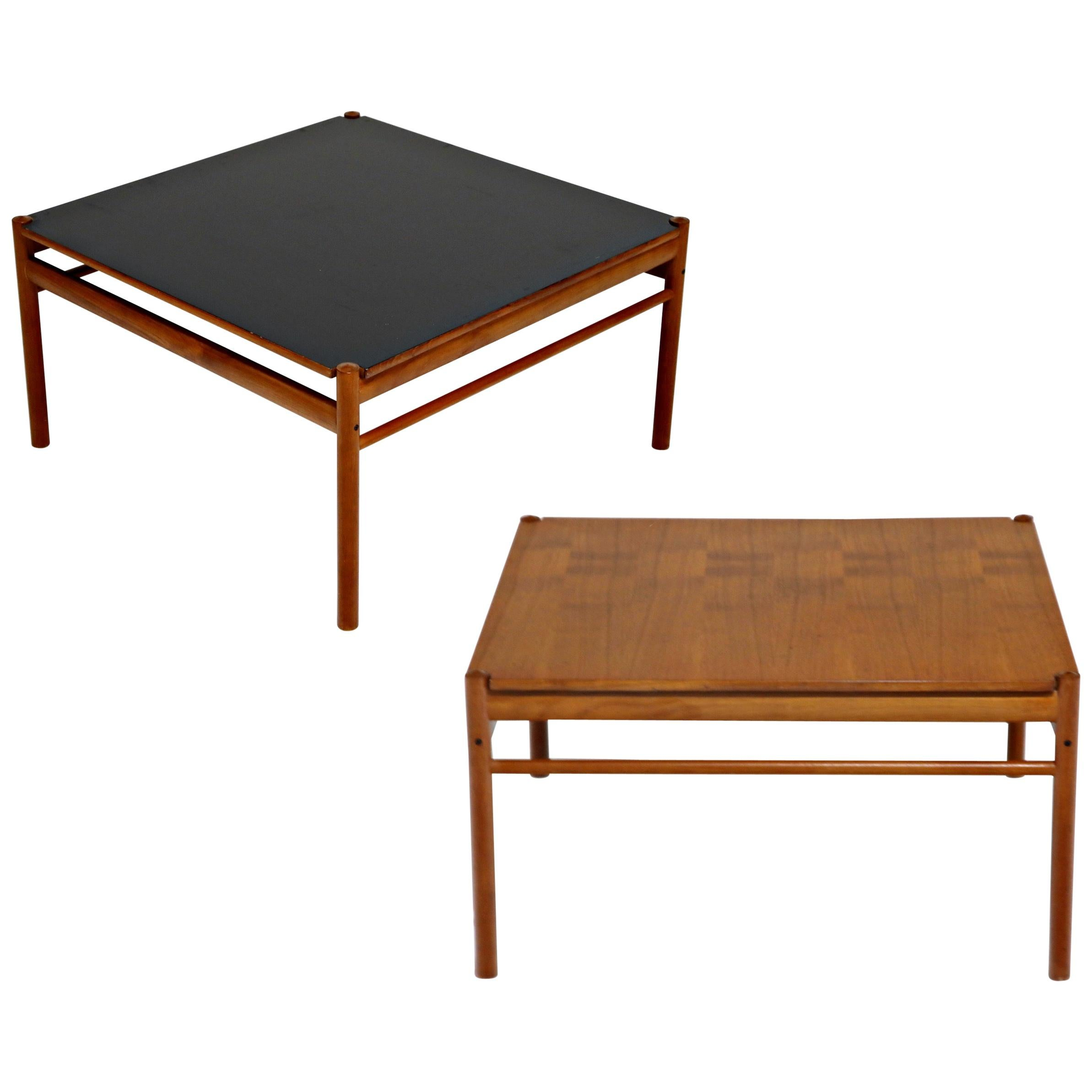 Reversible Teak & Formica Coffee Tables by Ole Wanscher for Poul Jeppesen