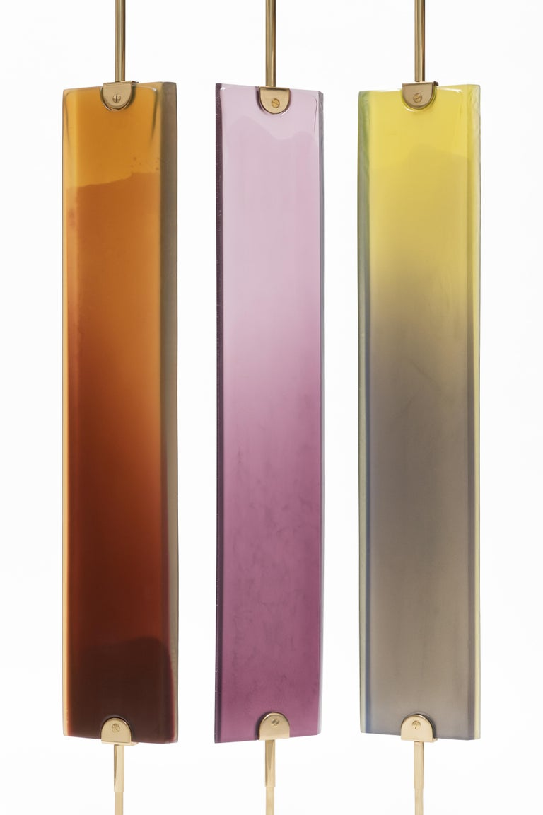Contemporary Reverso Separè by Draga&Aurel Resin and Brass, 21st Century For Sale