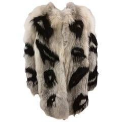 Revillon black and white Fox Fur