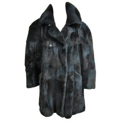 Revillon Mink Sheared fur Jacket Paris Made Large Unisex 1980s Coat