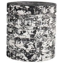 """Revolve"" No.3 Black, Contemporary Handmade Sculptural Side Table 'no.02/03'"