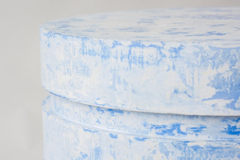 """Danish """"Revolve"""" No.3 Blue, Contemporary Handmade Sculptural Side Table 'no.01/03' For Sale"""