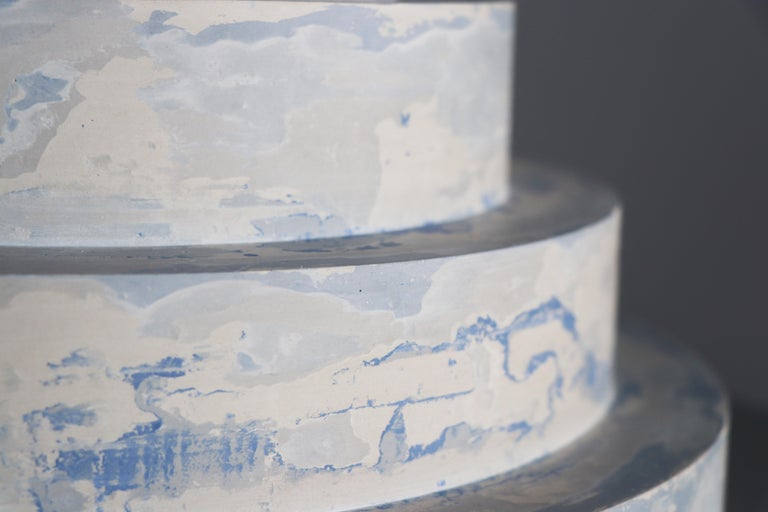 "Modern ""Revolve"" No.S1 Blue – Contemporary 21st-Century Stucco Sculpture 'no. 01/05' For Sale"
