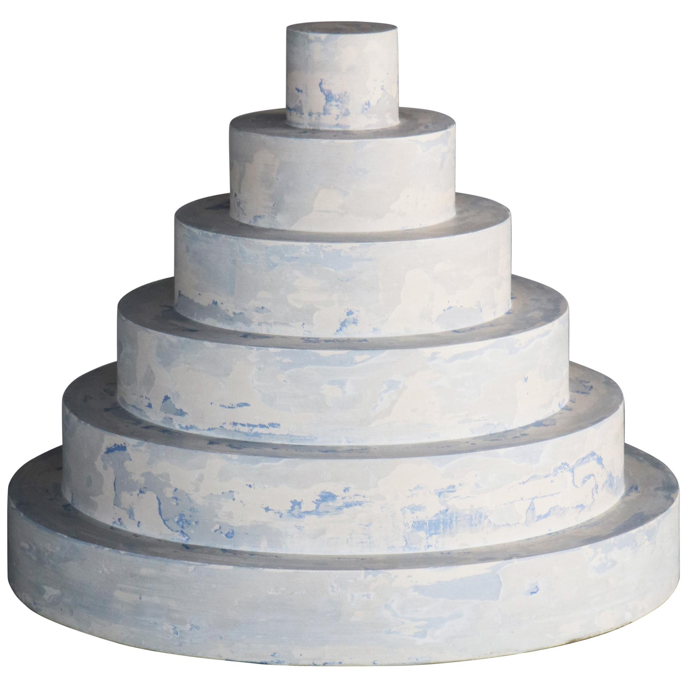 """""""Revolve"""" No.S1 Blue – Contemporary 21st-Century Stucco Sculpture 'no. 01/05'"""