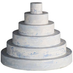 """Revolve"" No.S1 Blue – Contemporary 21st-Century Stucco Sculpture 'no. 01/05'"