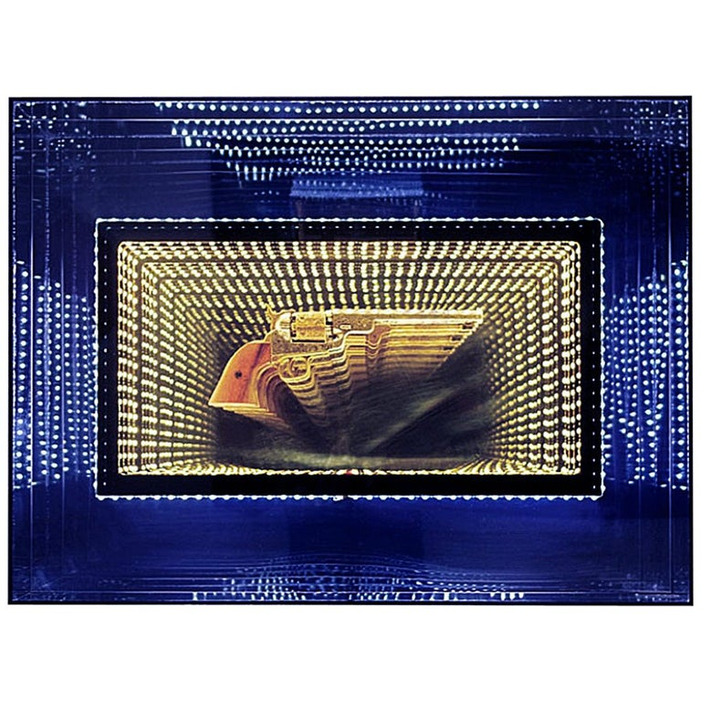 Revolver Infiny Wall Decoration Mirror with Led Lights For Sale