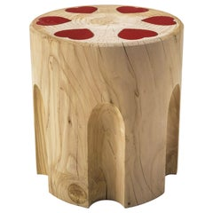 Revolvheart Stool in Solid Cedar