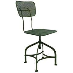 Revolving Architects Chair Mesh Metal Mategot Style Industrial Loft Midcentury