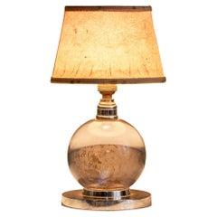 Revolving Glass Sphere Table Lamp