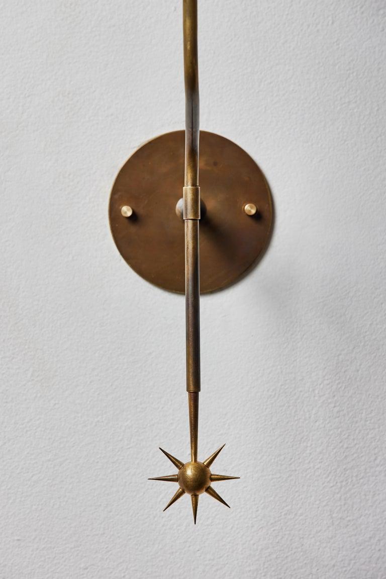 Rewire Custom Brass Sconce For Sale 4