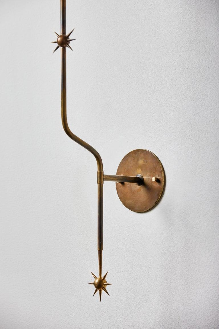 Rewire Custom Brass Sconce For Sale 1