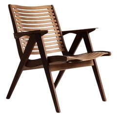 Rex 120 Lounge Chair Natural Walnut, Solid Frame + Plywood, Mid-Century Modern