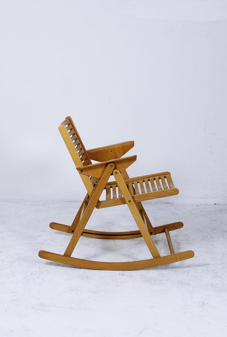Cool Rex Foldable Rocking Chair By Niko Kralj 1950S For Sale At Andrewgaddart Wooden Chair Designs For Living Room Andrewgaddartcom
