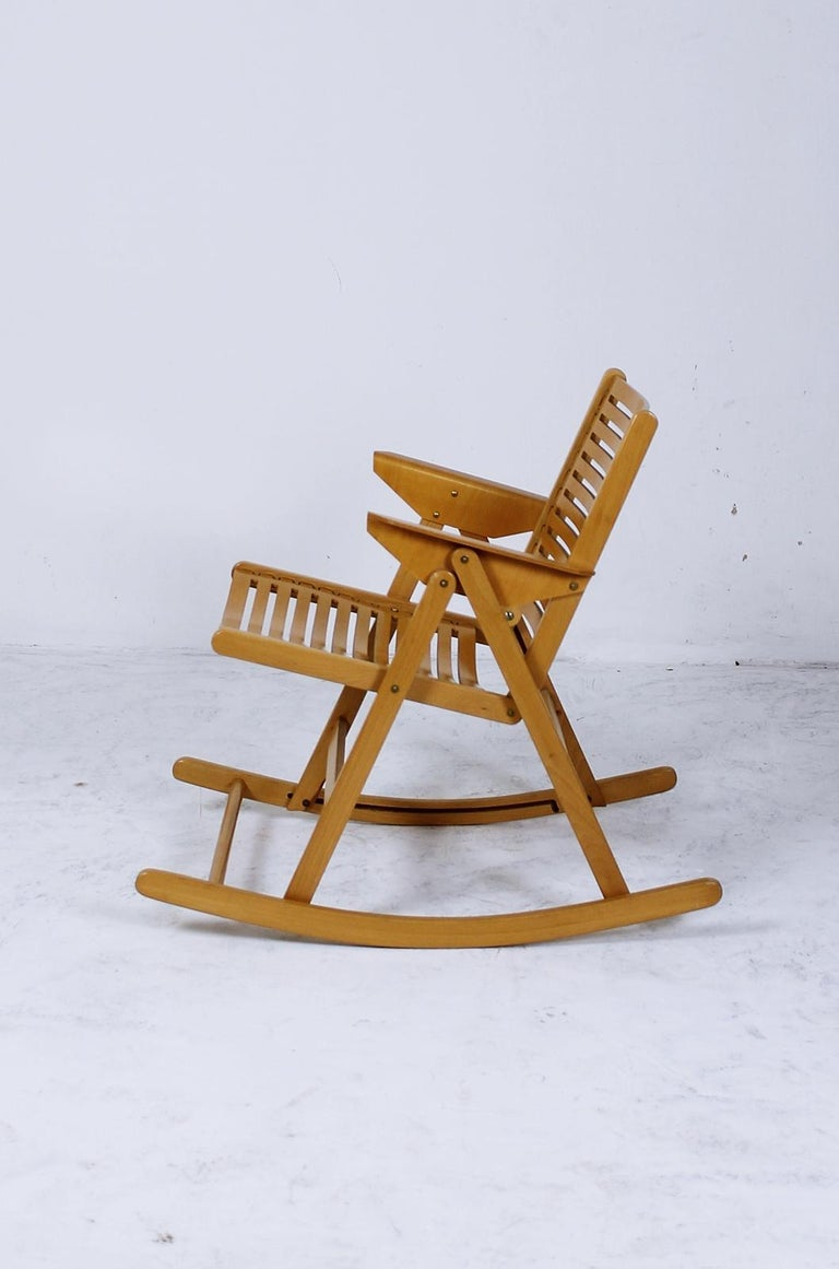 Astounding Rex Foldable Rocking Chair By Niko Kralj 1950S For Sale At Andrewgaddart Wooden Chair Designs For Living Room Andrewgaddartcom