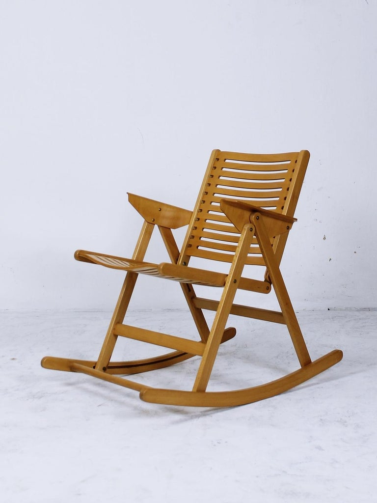 Excellent Rex Foldable Rocking Chair By Niko Kralj 1950S For Sale At Andrewgaddart Wooden Chair Designs For Living Room Andrewgaddartcom