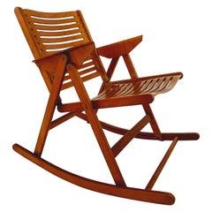 Rex Foldable Rocking Chair by Niko Kralj, 1950s